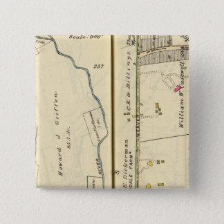 46-47 White Plains、Scarsdale 5.1cm 正方形バッジ