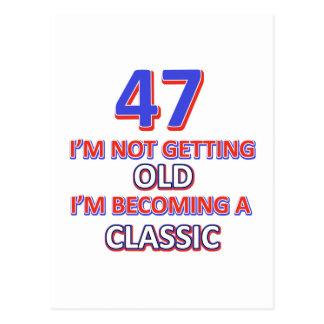 47の誕生日のデザイン ポストカード