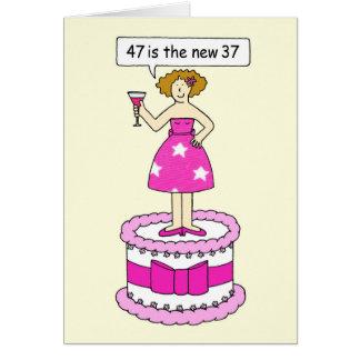 47は彼女のための新しい37の年齢の誕生日のユーモアです カード