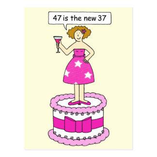 47は彼女のための新しい37の年齢の誕生日のユーモアです ポストカード
