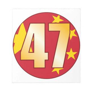 47中国の金ゴールド ノートパッド