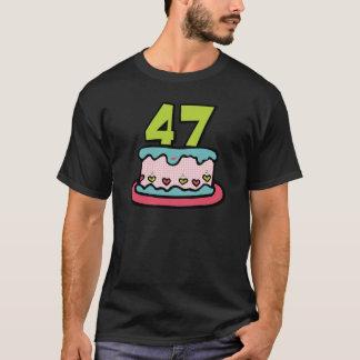 47歳のお誕生日ケーキ Tシャツ