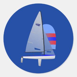 470競争のヨットのonedesignのオリンピッククラス ラウンドシール