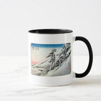 47. 亀山宿、広重Kameyama-juku、Hiroshige、Ukiyo-e マグカップ
