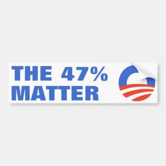 47%問題オバマ2012年 バンパーステッカー