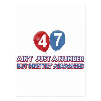 47 aintちょうど数 ポストカード