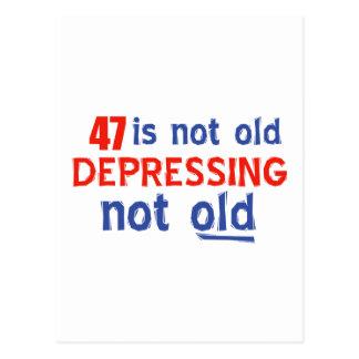 47birthdayデザイン ポストカード