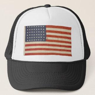 48の星が付いている米国旗 キャップ