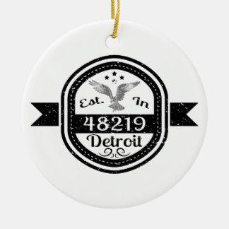 48219デトロイトに確立される セラミックオーナメント