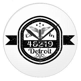 48219デトロイトに確立される ラージ壁時計