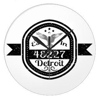 48227デトロイトに確立される ラージ壁時計