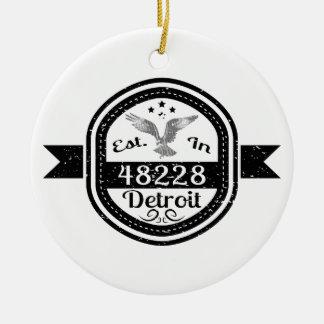 48228デトロイトに確立される セラミックオーナメント