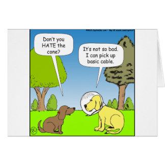 483犬の円錐形の漫画の基本的なケーブルを取って下さい カード