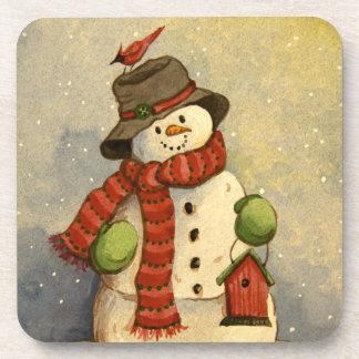 4905雪だるま及び巣箱のクリスマス コースター