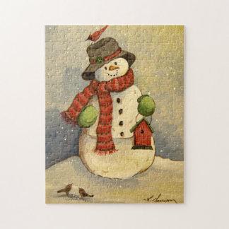 4905雪だるま及び巣箱のクリスマス ジグソーパズル
