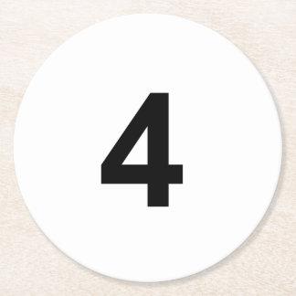 4 -第4 ラウンドペーパーコースター