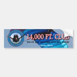 ! 4,000フィートクラブ バンパーステッカー