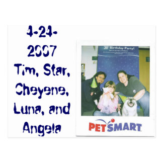 4-24-2007ティム、星、Cheyene、ルナおよびアンジェラ ポストカード
