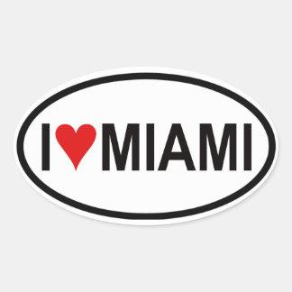 4 I [ハート]マイアミ 楕円形シール