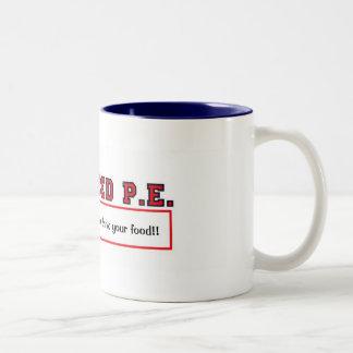 #4ADVANCEDPEprintは、あなたのジュースをかみ砕き、yoを…飲みます ツートーンマグカップ