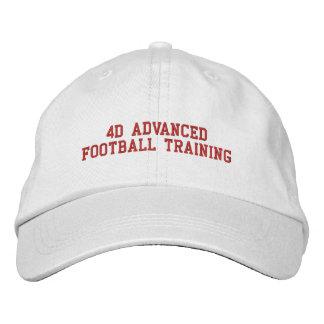 4D後方の白い帽子 刺繍入りキャップ