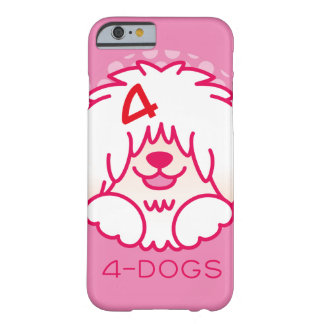 4dogsカラーアイコン barely there iPhone 6 ケース