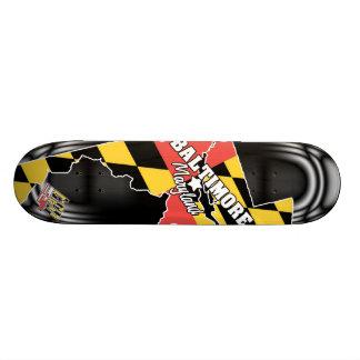 4ten: ボルティモア、メリーランド2 18.1cm オールドスクールスケートボードデッキ