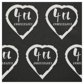 4TH Wedding Anniversary Linen ファブリック