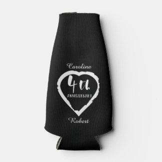 4TH Wedding Anniversary Linen Slik ボトルクーラー