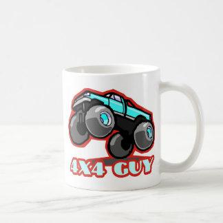4x4人: オフロードモンスタートラック(すべての地勢) コーヒーマグカップ