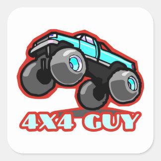 4x4人: オフロードモンスタートラック(すべての地勢) スクエアシール