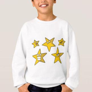 5つのおもしろいな星 スウェットシャツ