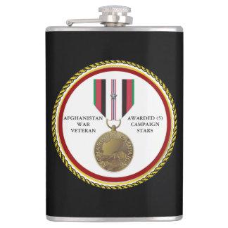 5つのキャンペーン星のアフガニスタンの退役軍人 フラスク