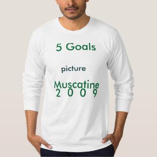 5つのゴール、Muscatine、2 0 0 9の写真 Tシャツ