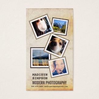 5つのサンプル写真とのModernPhotographer 名刺