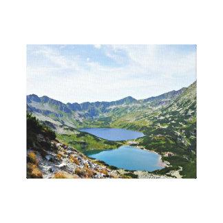 5つのポーランドの池の谷、Tatras キャンバスプリント