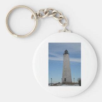 5つのマイルポイント灯台ニューヘブンCT港 キーホルダー