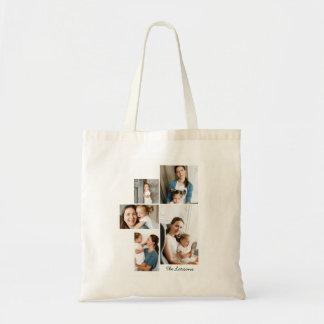 5つの写真のコラージュのプリント トートバッグ