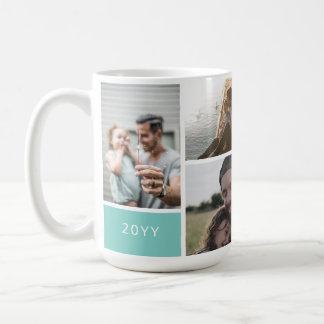 5つの写真のコラージュ コーヒーマグカップ