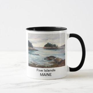 5つの島、メインのマグ マグカップ