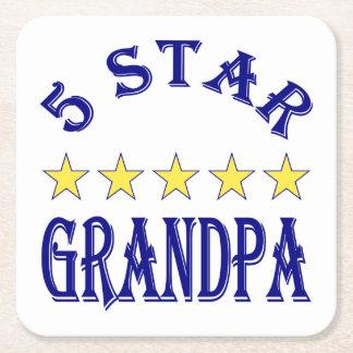 5つの星の祖父 スクエアペーパーコースター