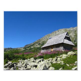 5つの池の谷の小屋、Tatrasの写真のプリント フォトプリント