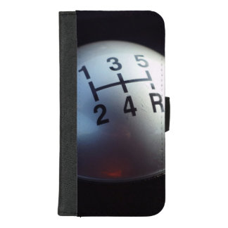 5つの速度のギア転位のノブ iPhone 8/7 PLUS ウォレットケース