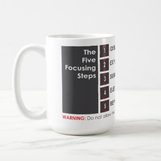 5つの集中のステップ コーヒーマグカップ