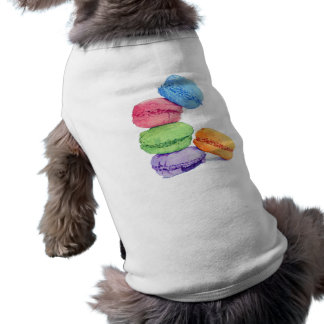 5マカロン犬のTシャツ ペット服