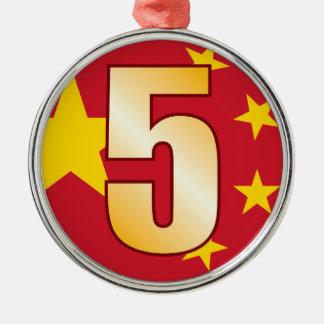 5中国の金ゴールド メタルオーナメント