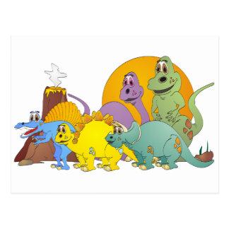 5人の恐竜の友人 ポストカード