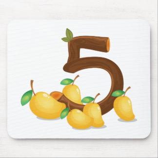 5個のマンゴ マウスパッド