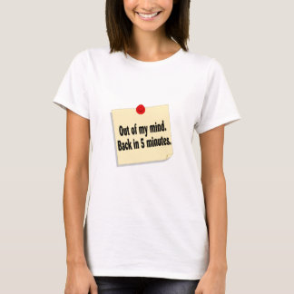 5分の私の心の背部から Tシャツ