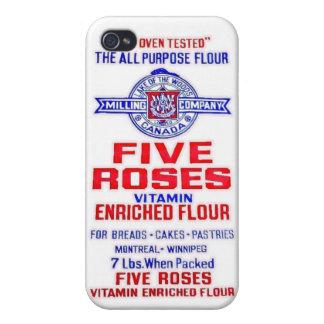 5匹のバラの小麦粉 iPhone 4/4S カバー